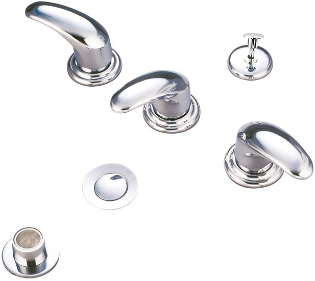 Legacy Bidet Faucet with Metal Lever Handles, Polished Chrome