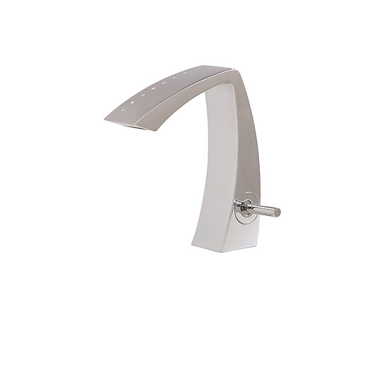ETNA By Aquabrass Single-Hole Lavatory Faucet With Crystals