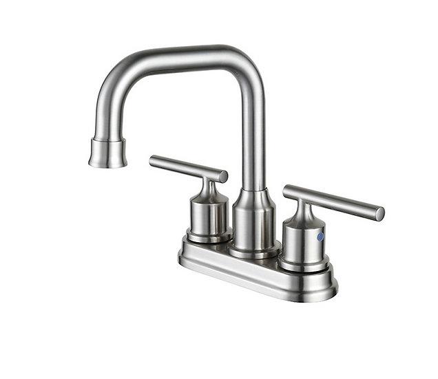 Acqua + Bango, Solid Brass single handle mixer, Brushed Nickel