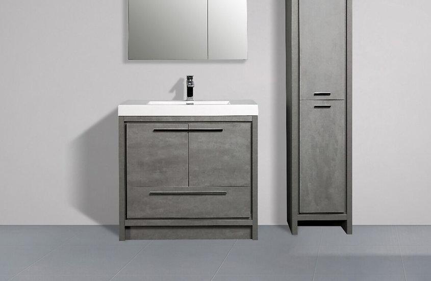 "36"" ALLIER - Cement Grey - Single Sink Vanity"