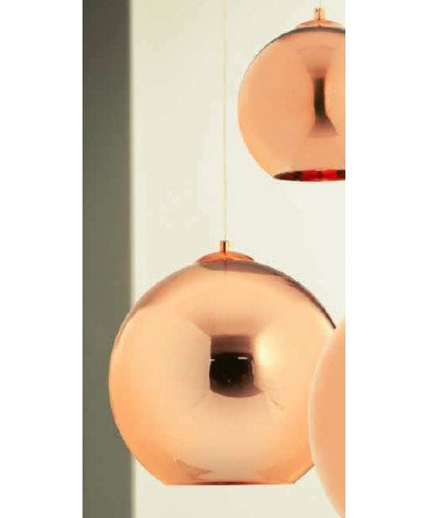 12`` Diameter Glass Copper Ball Pendant