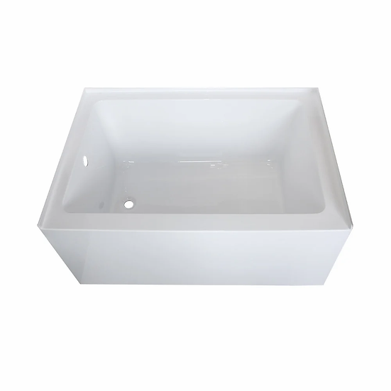 "48"" x 32"" alcove bathtub, left or right side drain"