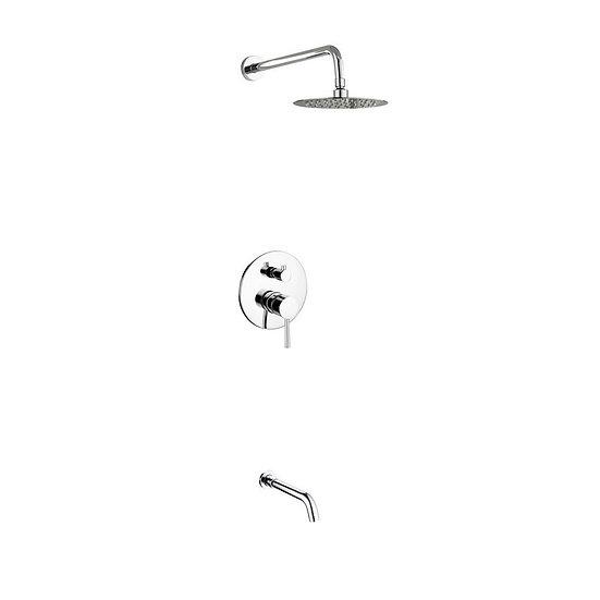 "Aqua Rondo: 8"" Rain Shower & Tub Filler"