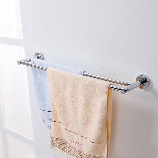 Double Towel Bar 26.8 Inch - Chrome Brass