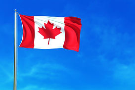 flag-canada-blue-sky-background-3d-rende