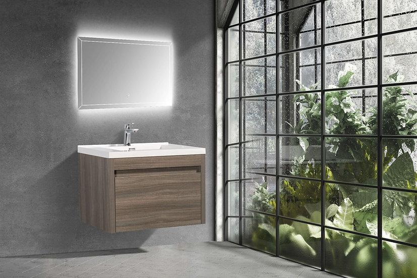 "30"" LABRADOR - Maple Grey - Single Sink Wall-Hung Vanity"