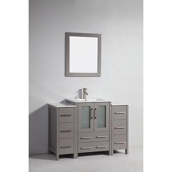 Single Sink Vanity – White Ceramic Vanity Top