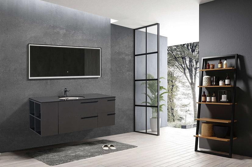 "60"" Opal -T Dark Grey with Quartz Ctop - TOTO porcelain sink"