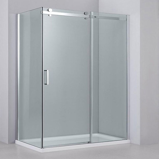 "60"" Sliding Shower Door With 36"" Side Panel"