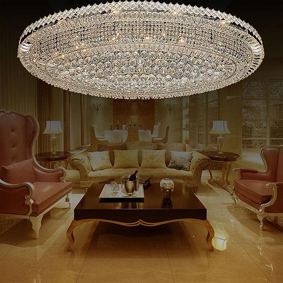 32-Light Large Chrome Crystal Ceiling Light, LIG8120408293