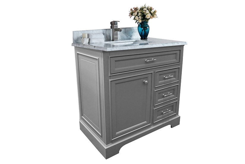 "36""/48"" Milan Bathroom Vanity - Cashmere Grey"