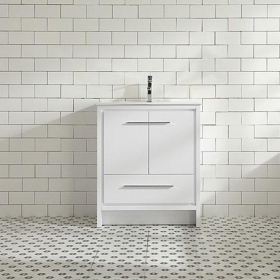 """30"""" MELANIE - White - Single Sink Vanity"""