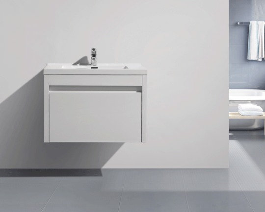 "30"" LABRADOR - White - Single Sink Wall-Hung Vanity"