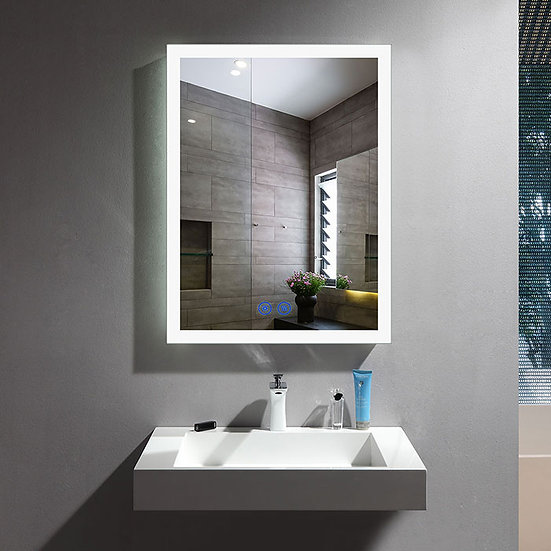 20 x 28 Inch LED Bathroom Mirror with Touch Button.