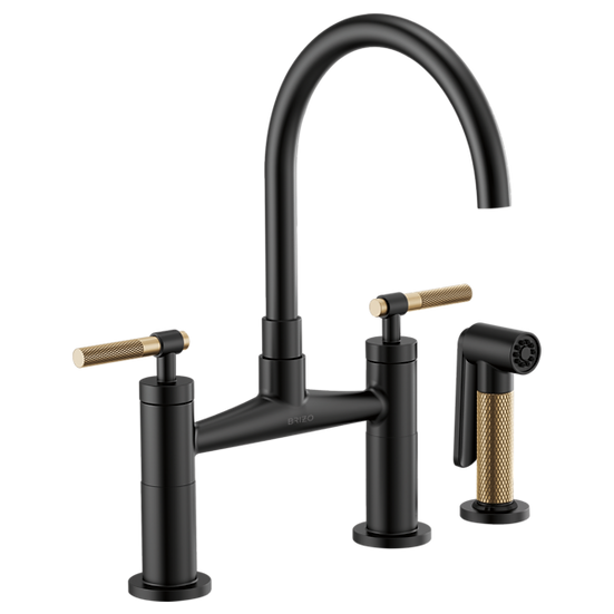 LITZE® BRIDGE FAUCET WITH ARC SPOUT AND KNURLED HANDLE
