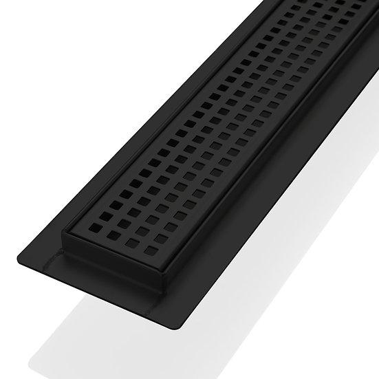 48″ STAINLESS STEEL PIXEL GRATE – MATTE BLACK