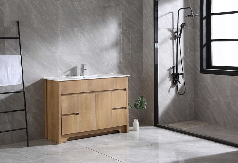 Indy - Frosted Oak Combo with Ceramic Countertop - Single Sink
