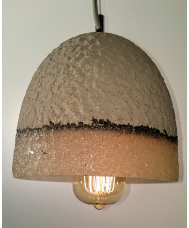 Conical Concrete & Resin Pendant