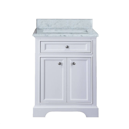 "24"" MILAN - White - Single Sink Bathroom Vanity"