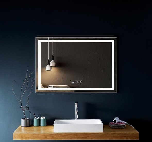 """Mirror 43"""" LED M-1036 with time & temperature display"""