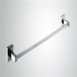 "Aqua PIAZZA 26"" Towel Bar - Chrome"