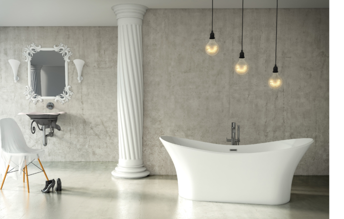 Andrina™ 69″ Solid Surface Freestanding Bath