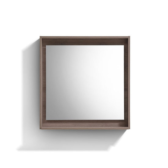 "30"" Wide Mirror w/ Shelf - Butternut"