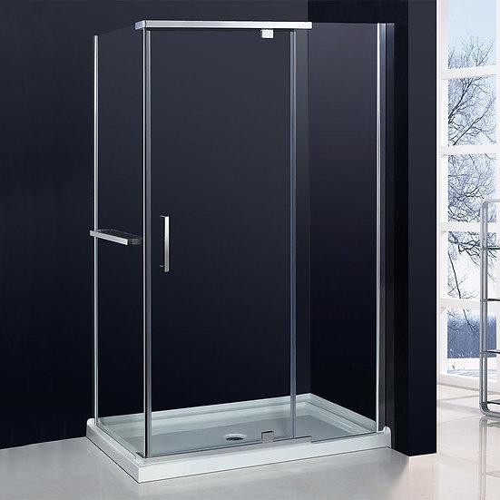 """48"""" Corner Shower Door With 32"""" Side Panel"""