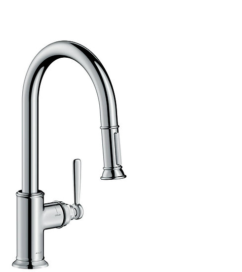 Montreux By Axor Single Lever Kitchen Mixer 180 With Pull-Out Spray