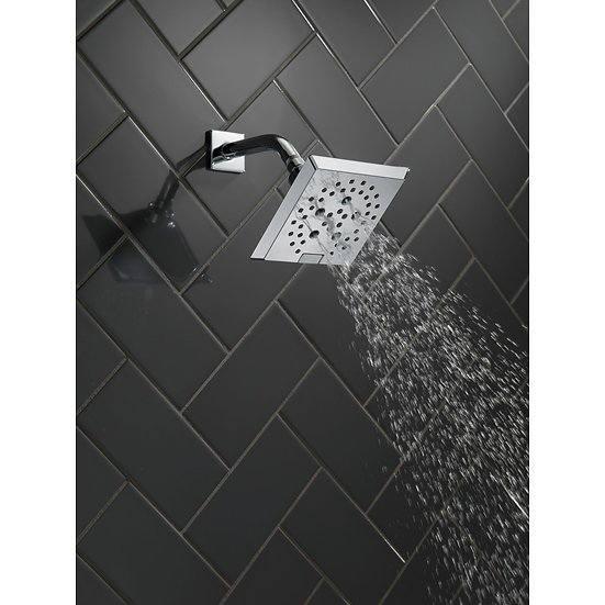 PIVOTAL H2Okinetic 5-Setting Angular Modern Raincan Shower Head