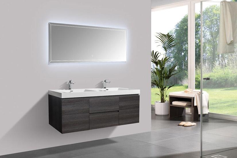 """60"""" CAPRI - Distressed Oak - Double Sink Bathroom Vanity"""