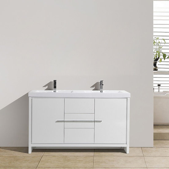 "60"" Allier Double Sink Bathroom Vanity"