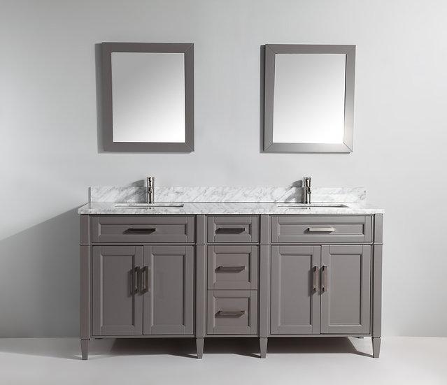 Double Sink Vanity – White Carrara Marble