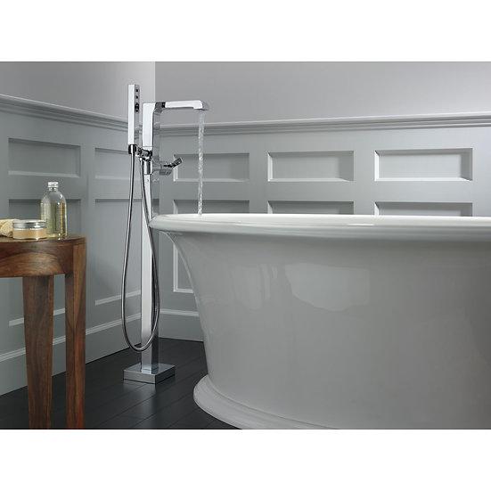 ARA® Single Handle Floor Mount Tub Filler Trim with Hand Shower