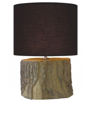 Ceramic Log Table Lamp 22``