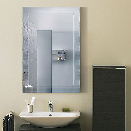 36 x 24 In. Wall-mounted Rectangle Bathroom Silvered Mirror