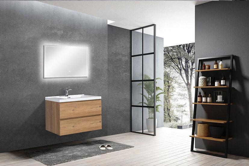 "30"" CAPRI - Rough Oak - Single Sink Bathroom Vanity"