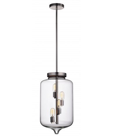 Giant Glass Pendant for 4 Edison Bulbs
