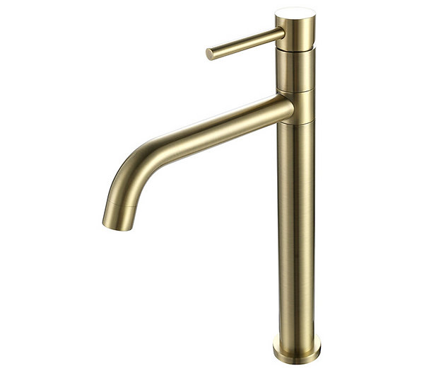 Acqua + Bango, Solid Brass single handle mixer, Luxe Gold