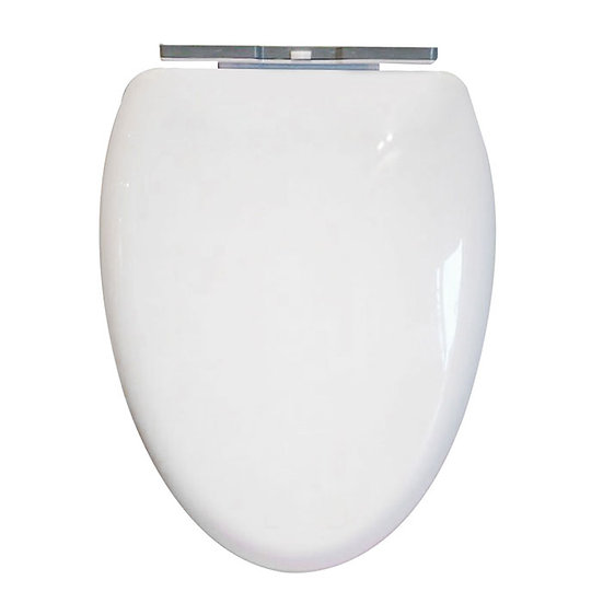 PP White Elongated Soft Close Toilet Seat With Cover