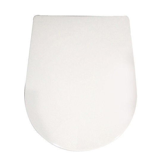 PP White Round-front Soft Close Toilet Seat With Cover