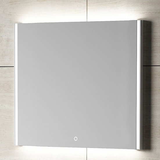 "30"" GEO LED Mirror - Solid Surface Frame"