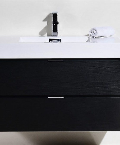"Bliss 36"" Black Wall Mount Vanity"