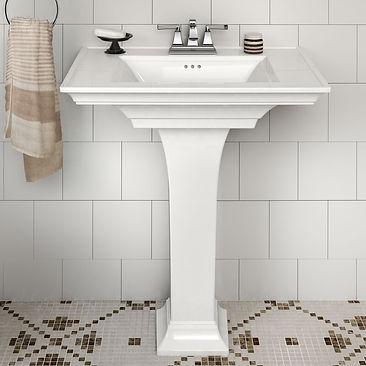 Town+White+Ceramic+Rectangular+Pedestal+