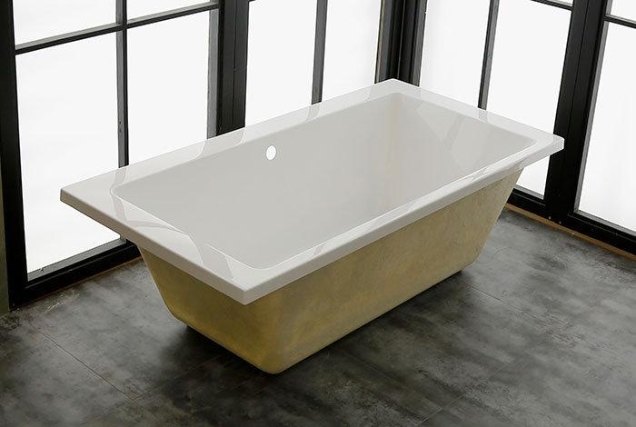 67 In Built-in Bathtub - Acrylic White