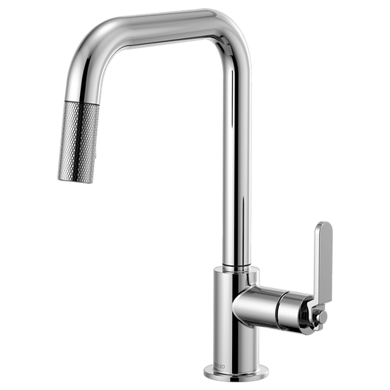 LITZE® Pull-Down Faucet with Square Spout and Industrial Handle