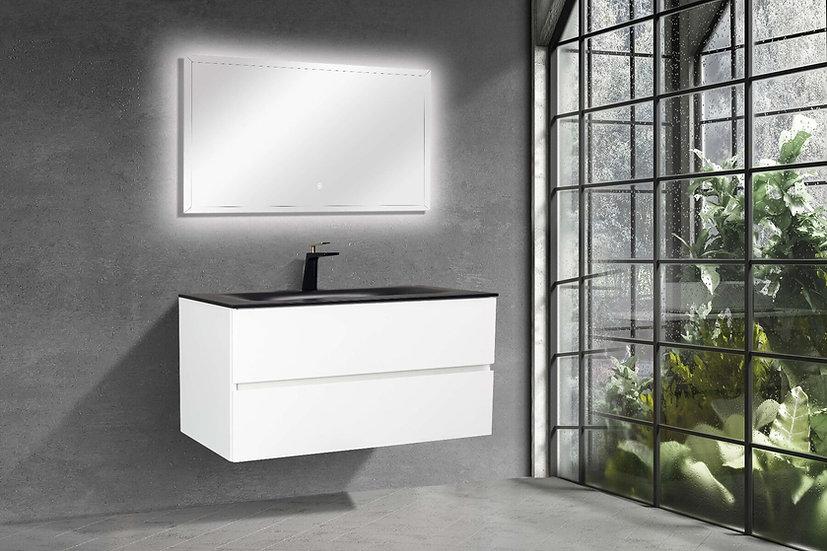 "42"" Emily - White - Single Sink Wall-Hung Bathroom Vanity"