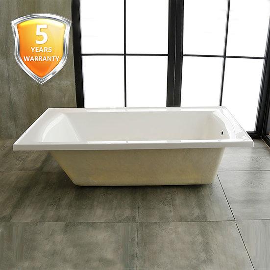 60 In Drop-in Bathtub - Acrylic White