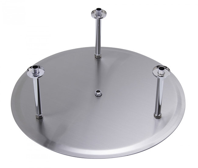 "LBG RAIN24R-PSS Universal 24"" Round Solid Ultra Thin Rain Shower Head"