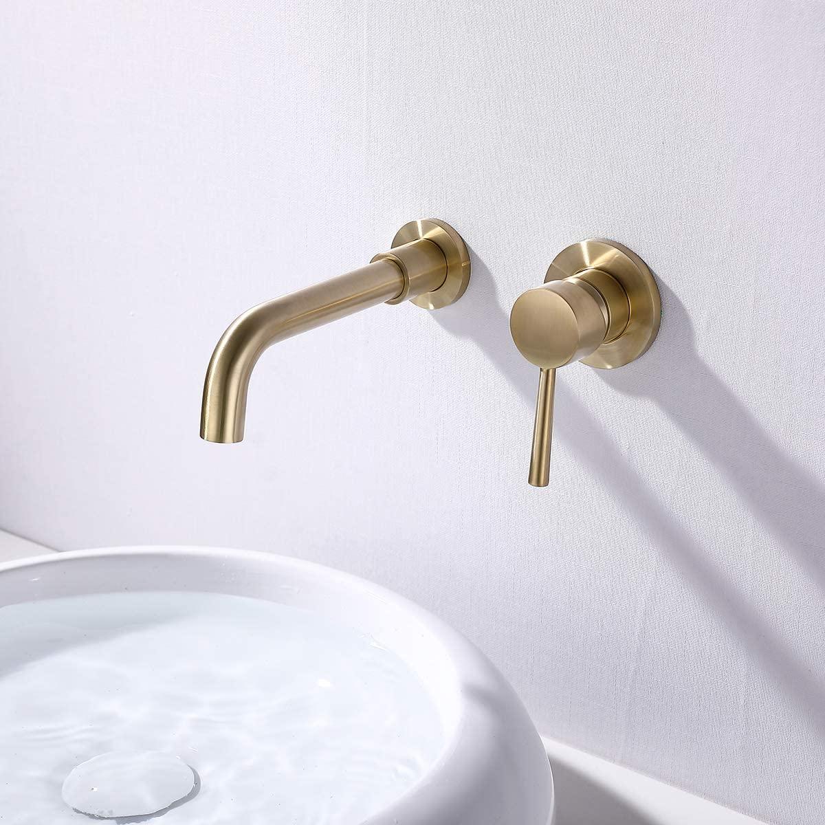 acqua + bango wall mount faucet gold a.j